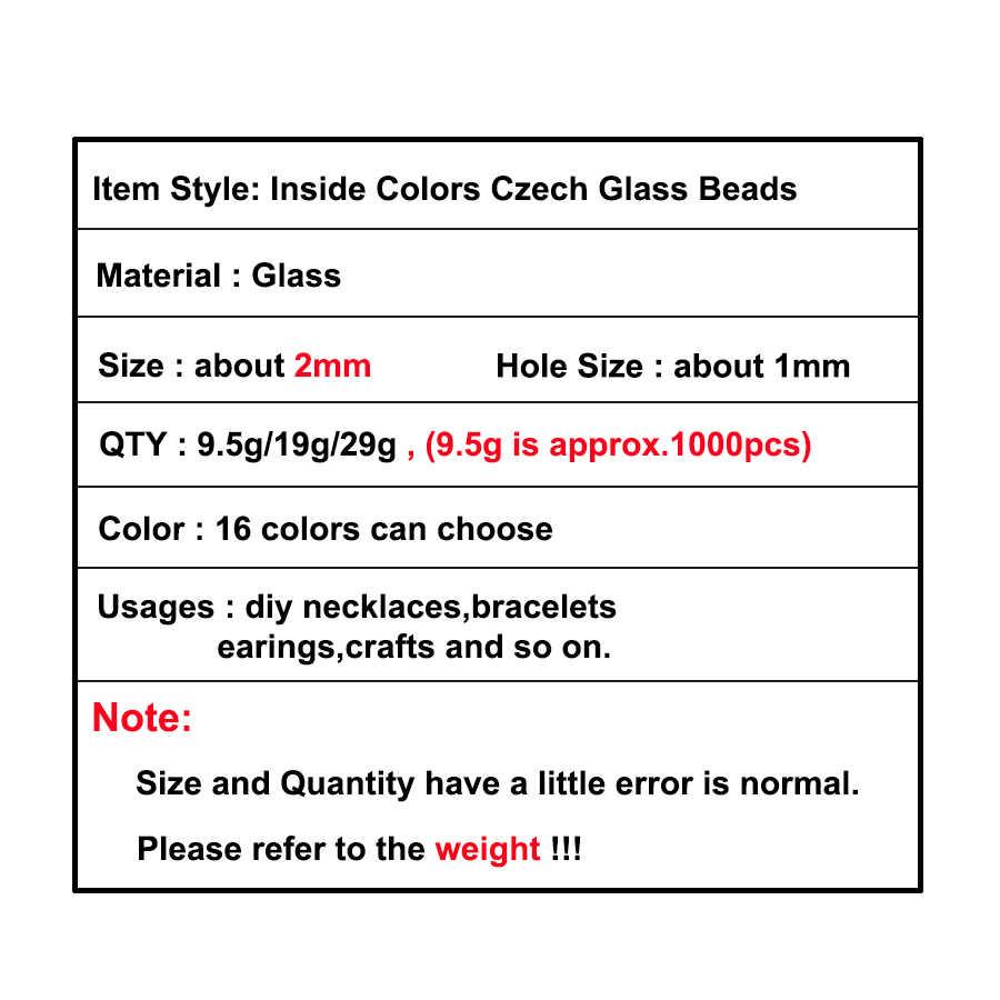 2 мм внутри цвета Lustered Шарм чешский стеклянный бисер «сделай сам» браслет, ожерелье, серьги для Аксессуары для ювелирных изделий