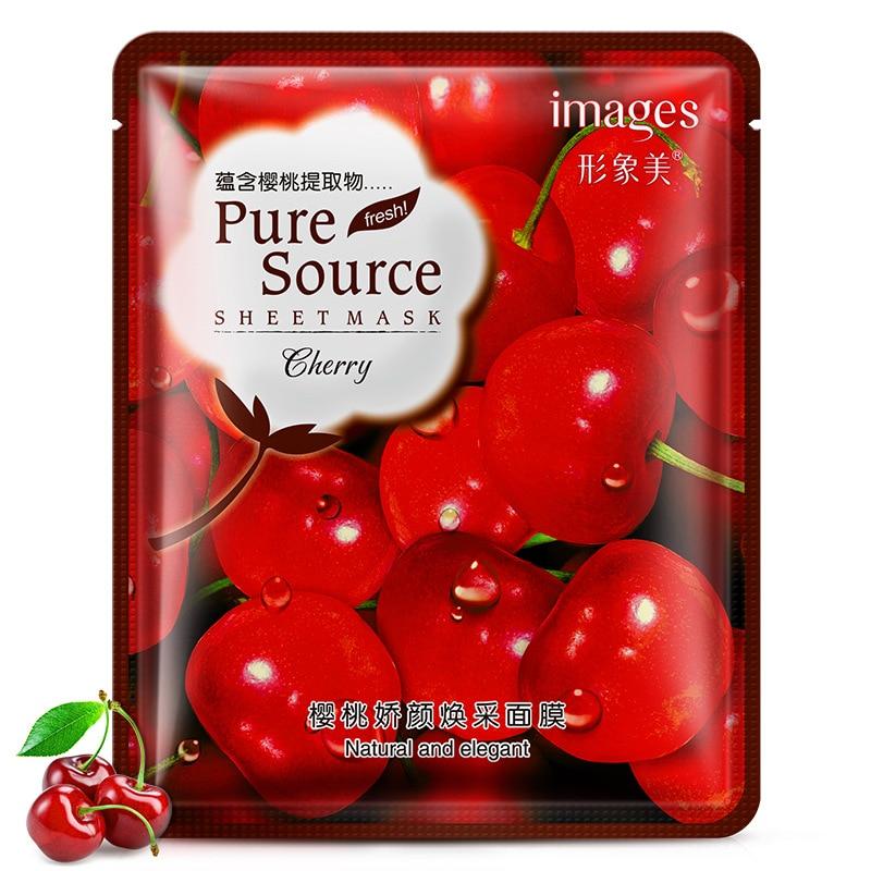 Lavender korean face mask acne Aloe Moisturizing Oil-control mask for face Cherry pomegranate Acne Treatment Facial skin care 3