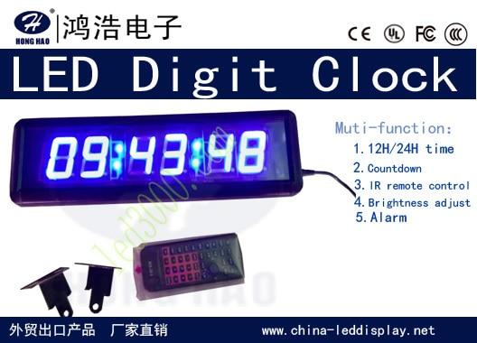 Reloj LED de color azul, reloj despertador, reloj de cuenta - Decoración del hogar