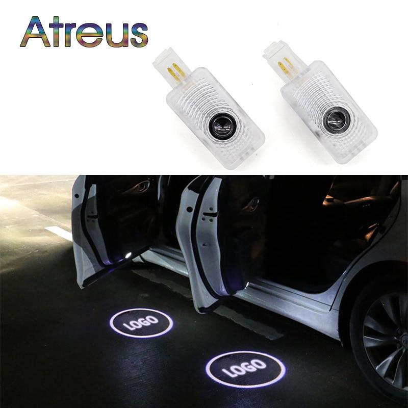 """""""Atreus"""" 2x LED šviestuvas 12V automobilio durų pasveikinimo lemputė Projektoriaus logotipas Automobilių stilius """"Honda Acura MDX RLX TL TLX ZDX"""" aksesuarams"""