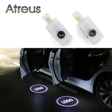 Atreus 2x LED Courtesy Light 12V Car door welcome lamp Projector Logo Car-styling For Honda Acura MDX RLX TL TLX ZDX accessories