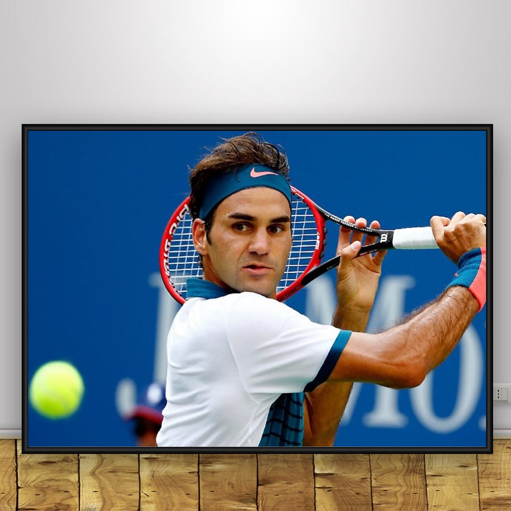 Roger Federer Tennis Player Game Art Large Poster Prints