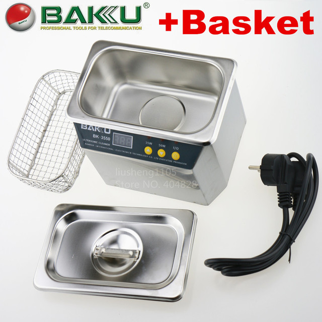 220V / 110V Stainless Steel Ultrasonic Cleaner , BAKU BK-3550.For Communications Equipment. FAST DELIVERY