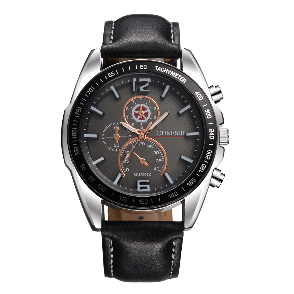OUKESHI Quartz Men Watch Military Fashion Genuine Leather Wristwatch Casual Sport Business Male Watches Relojes Hot Sale Clcok hot sale men fashion leather strap watches sports elegant classic casual analog business quartz wristwatch