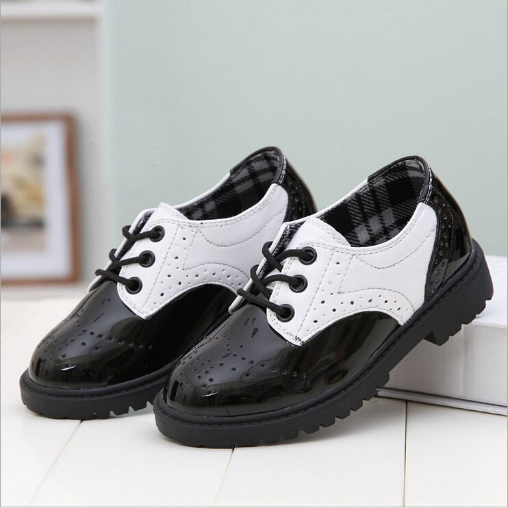 Acthink New 2017 Boys Formal Leather Shoes For Weddings England Style S Dress Brogue Uniform S002 In From Mother