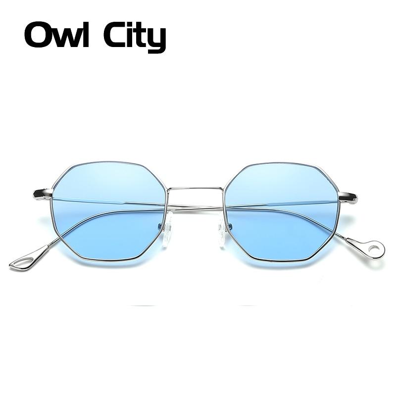 Owl City Hexagon Sunglasses Wanita Kacamata Matahari Kecil Merek - Aksesori pakaian - Foto 1