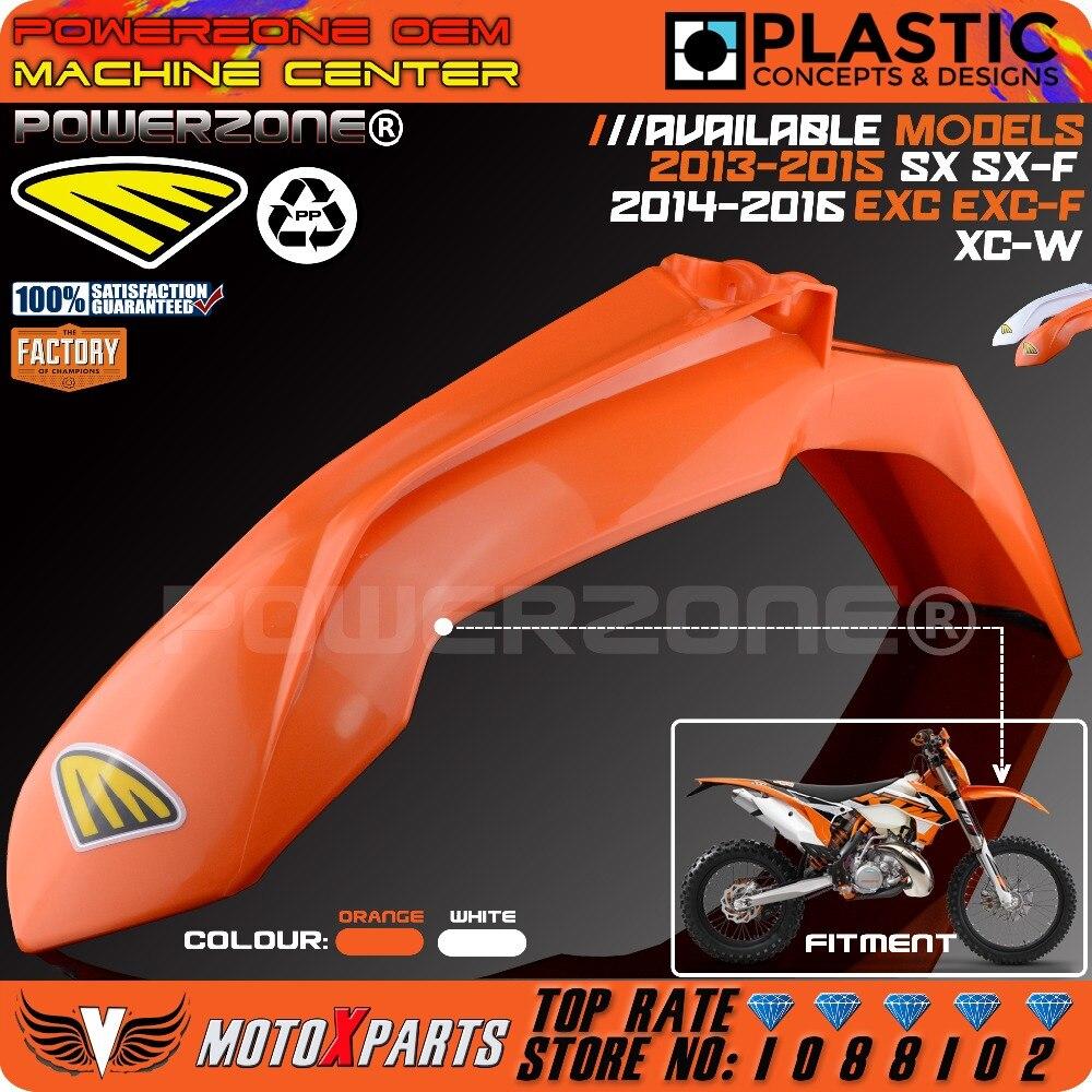 ФОТО  MX Orange Plastic Front Fender For KTM 2013-15 SX SXF  EXC EXCF XCW SIX DAYS 2014-16 Dirt Bike Motocross Enduro Free Shipping