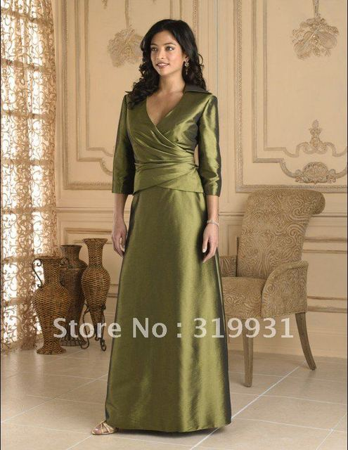 2013 Free Shipping Elegant A-line Long Sleeve Floor Length Satin Mother of The Bride Dress With Jacket MO137