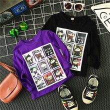 Boys Print T Shirt Long Sleeve Baby Shirt Bottoming Coat Kids Pullovers Children Boys Blouse Child T-shirt Baby Clothing H11265