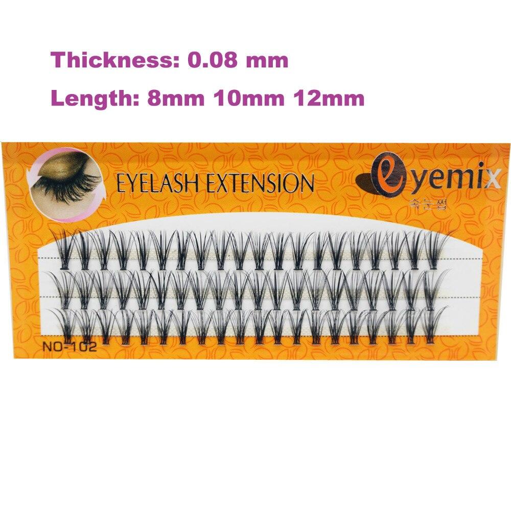 3D MINK ריס 0.08 עובי 60 קשרים איכות גבוהה ריס הרחבה 20 יח '/ קשר אורך 8mm / 10mm / 12mm