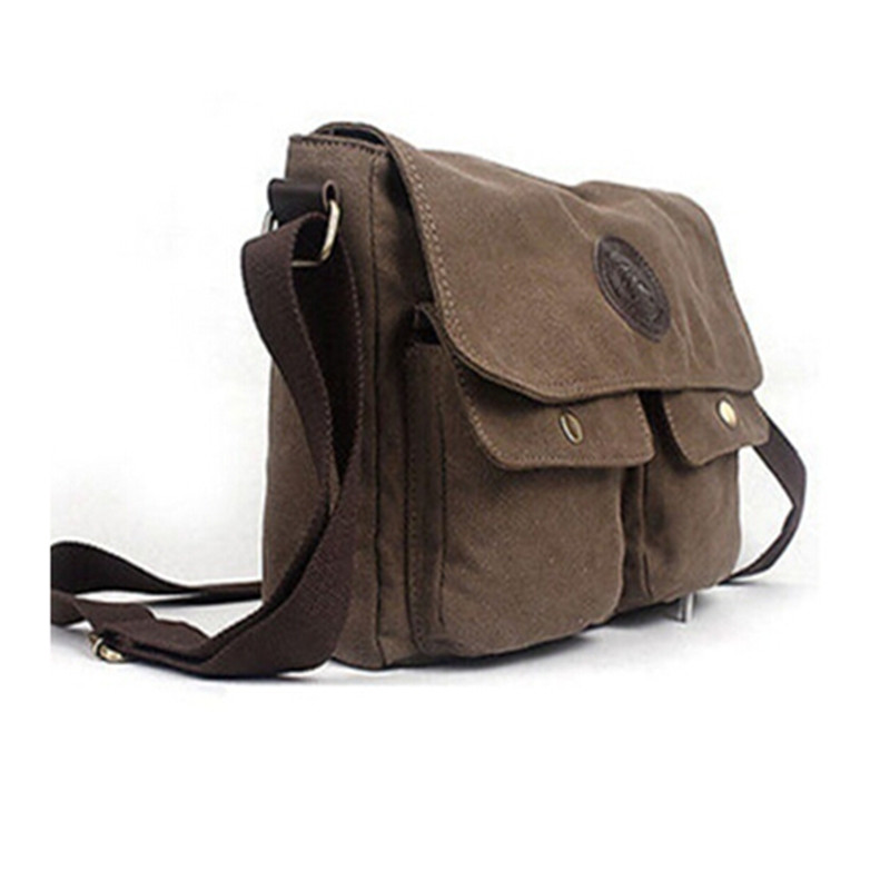 2017 Hot Men's Vintage Canvas Satchel School Military Shoulder Bags Messenger Bag Purse High Quality Free Shipping P133 muzee canvas vintage washed military messenger shoulder bag 560008