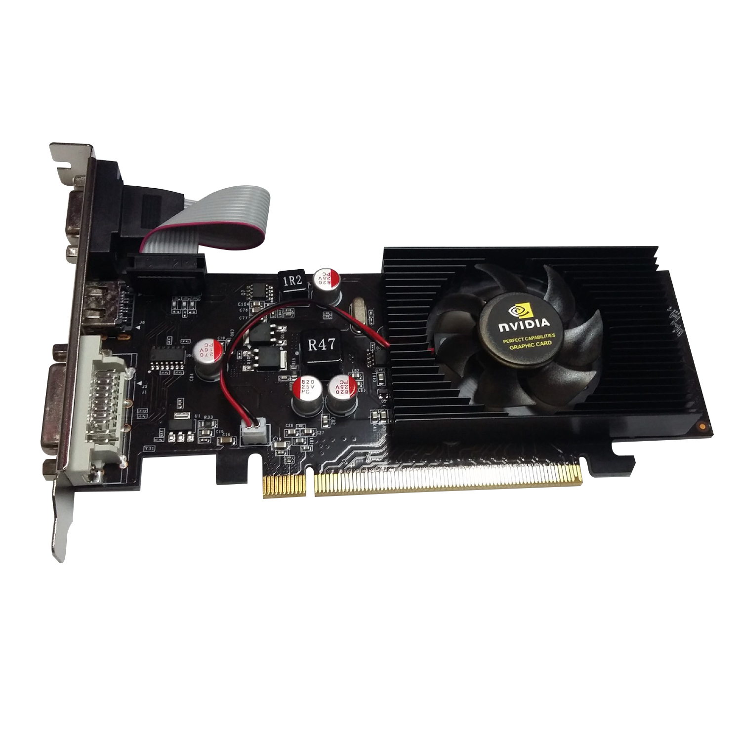 With <font><b>NVIDIA</b></font> Half Height Graphics GT610 1GB <font><b>GT</b></font> <font><b>610</b></font> 1G D2 64bit Half Height Card image