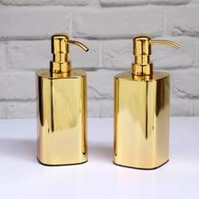 Золото Нержавеющая сталь дозатор жидкого мыла 420 мл роскошный современный для ванной комнаты бассейна