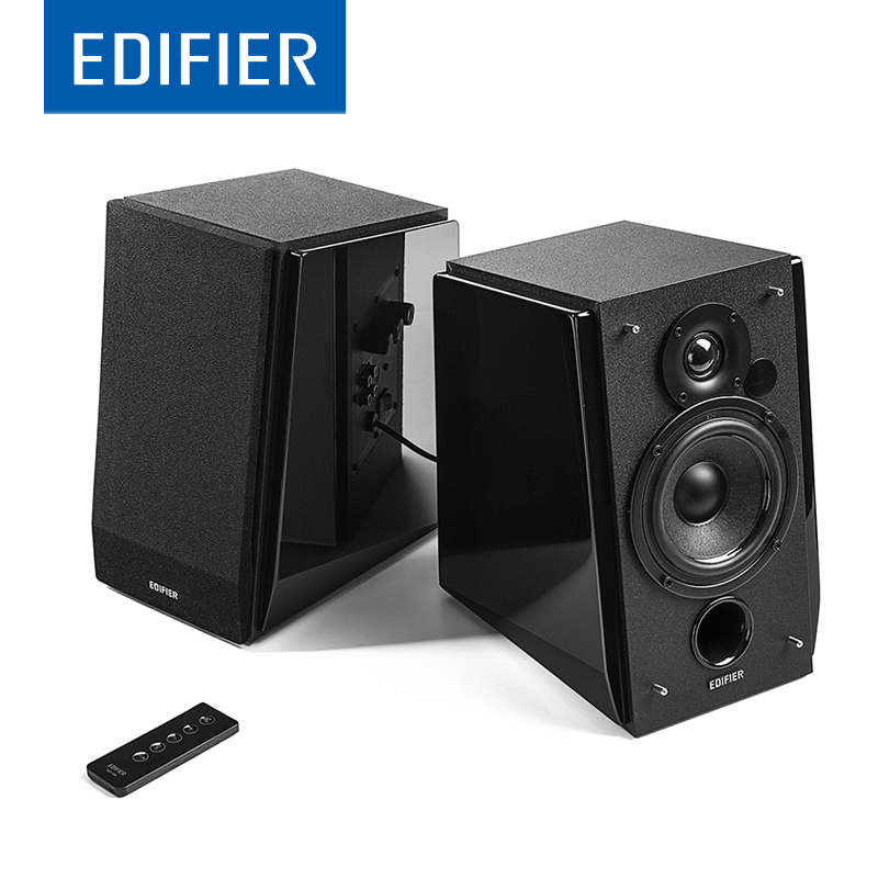 EDIFIER R1800BT Bluetooth Bookshelf Speaker Subwoofer Bass HIFI Speaker Support DSP DRC Input with AUC RCA With Remote Control