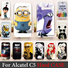 For Alcatel One Touch Pop C5 5036 OT5036 5036D Case Hard Plastic Mobile Phone Cover Case DIY Color Paitn Cellphone Bag Shell