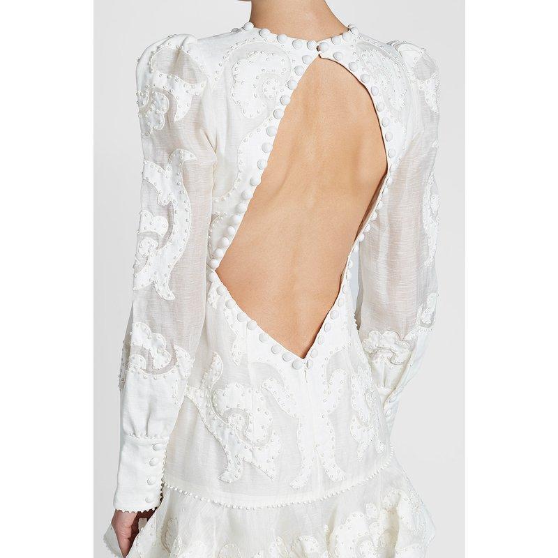 Date 2018 Designer piste bohème robe femmes à manches longues col en v dos nu broderie sirène Blusa Feminina Renda robe - 3