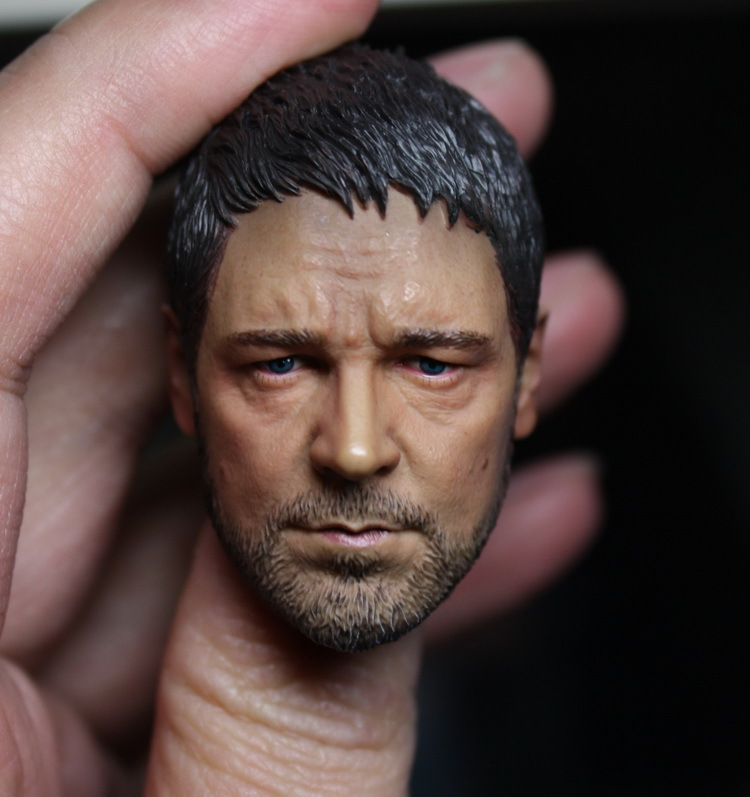 1/6 figure doll head shape for 12 action figure doll accessories Gladiator Russell Crowe Head carved not include body,clothes 2016 compatible zc toys 1 6 scale muscular figure body with russell ira crowe leonardo wolverine head zc01 zc02 zc03
