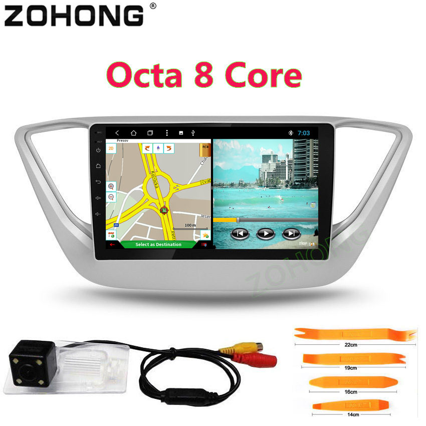 2 5D Octa 8 Core Android 8 1 Car DVD Player For Hyundai Verna Solaris Accent