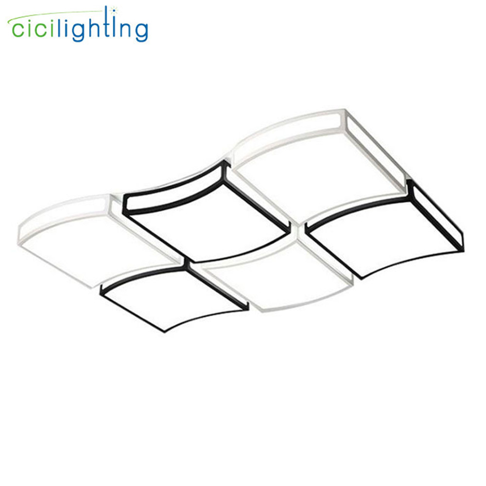 108W 144W Acrylic Modern led ceiling lights for living room bedroom dining room home ceiling lamp lighting decor light fixtures modern acrylic led ceiling lamp bedroom living room children room light remote contorl decor home lighting fixtures 110 220v