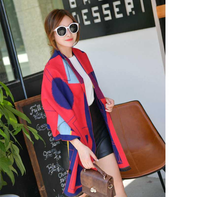 Fashion font b Tartan b font Foulard Women Casual Shawls Luxury Brand Echarpe Hiver Femme Cashmere