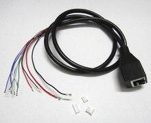 2pcs CCTV POE IP network Camera PCB Module video power cable, 60cm long, RJ45 female connectors with Terminlas