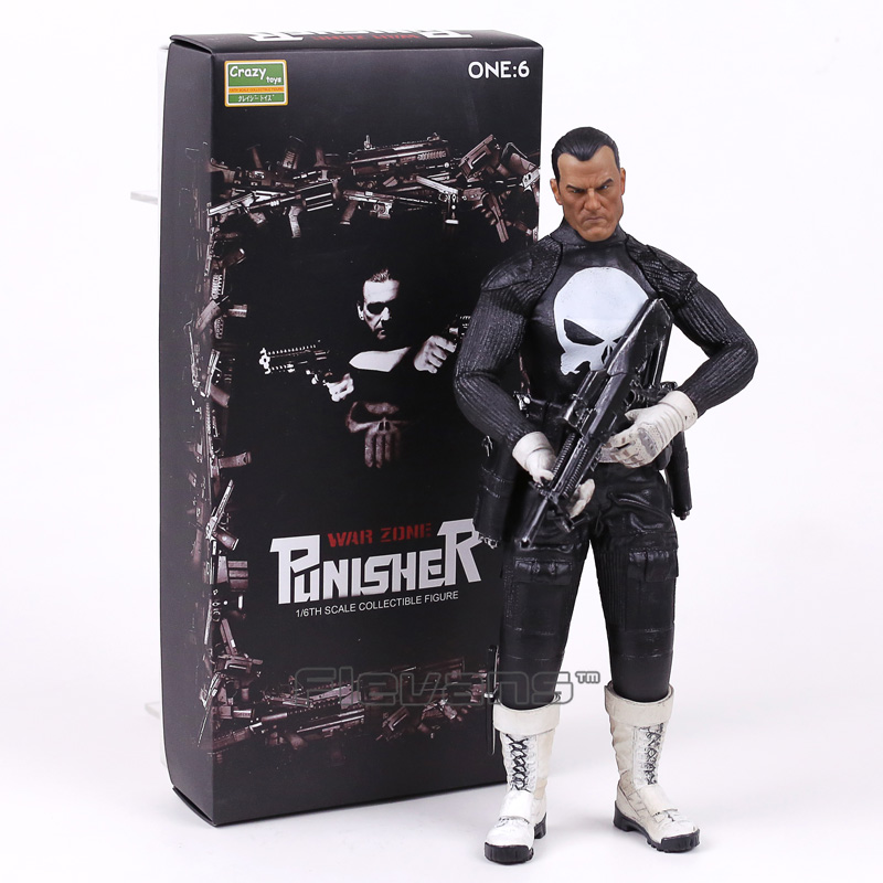 Crazy Toys War Zone Punisher 1/6th Scale Collectible Figure Model Toy 12inch 30cm collectible 1 6th ismael
