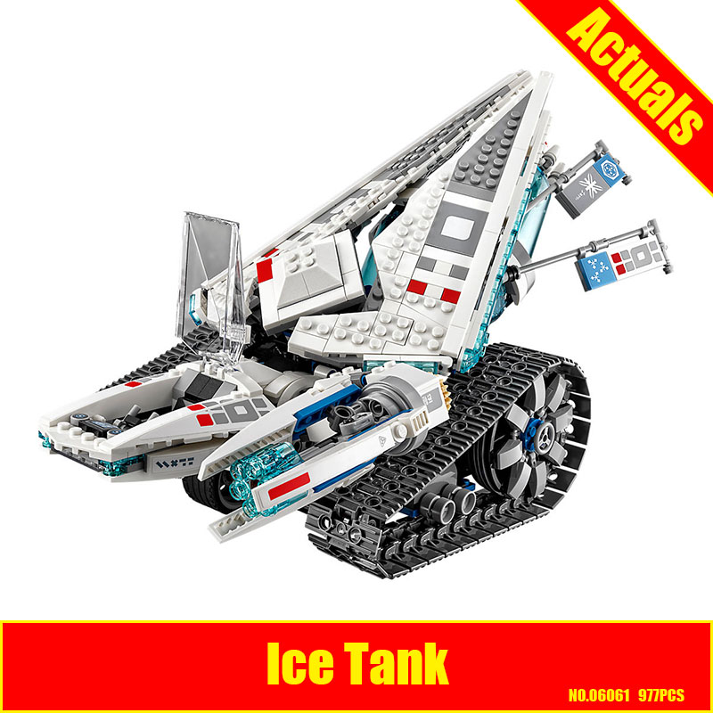 Lepin 06061 977pcs Ninja Ice Tank Building Blocks Compatible 70616 Brick Toy fast shipping
