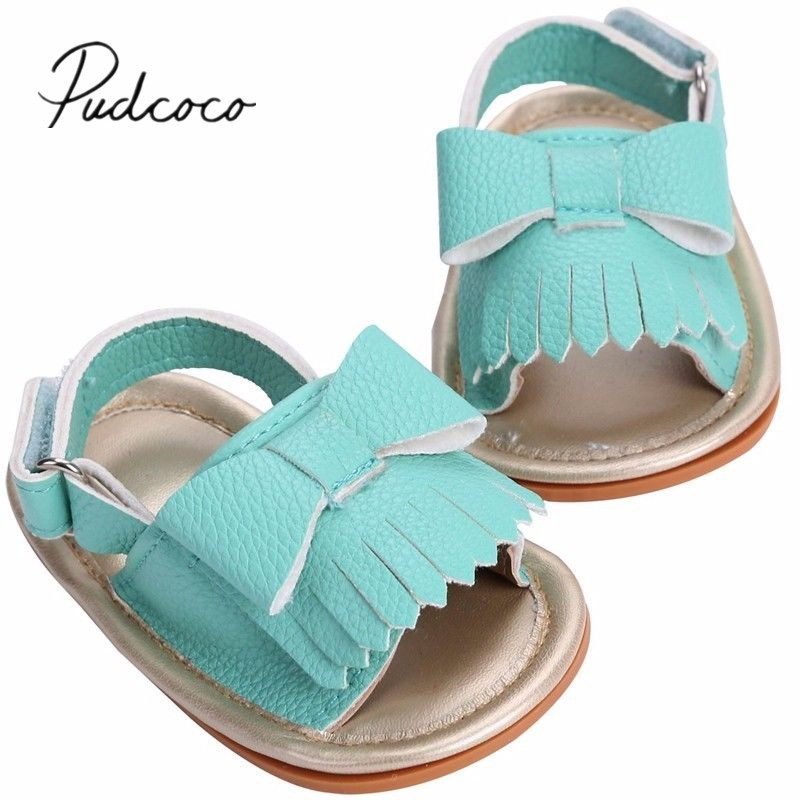 Girls Infant Toddler Princess Sandals Summer Flower Strappy Leather Baby Shoes