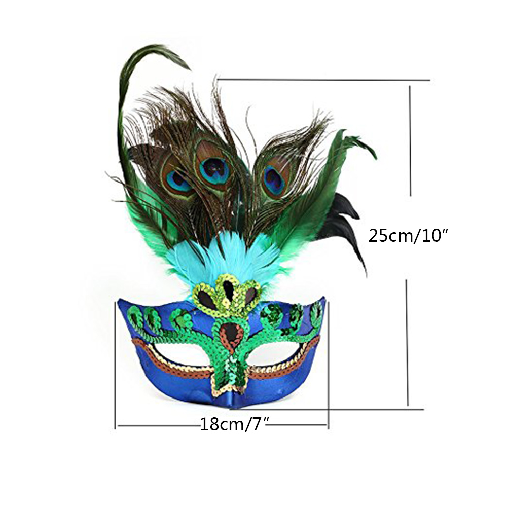 2017 new party masks elegant Peacock feather Mask Half Face Mask ...