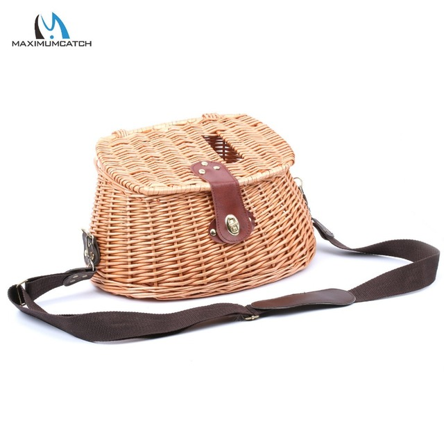 Maximumcatch Chinese Style Classical Wicker Trout Fishing Creel Vintage Bag Willow Basket