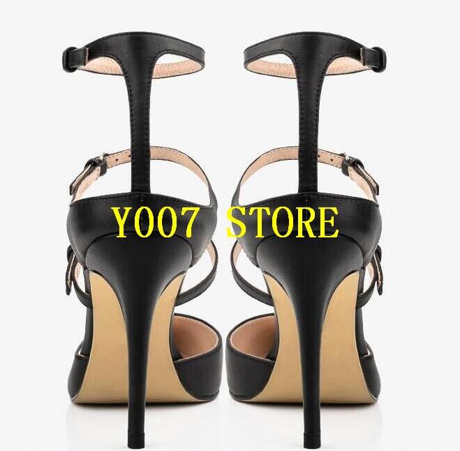 Robe Cuir Slingback Point En Élégant Boucles Chaussures Femmes Style Toe Femelle Pompes Hauts Mince Talons Lisse Tendance Dames Noir naf1Sx8