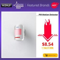 KERUI bezprzewodowy inteligentny czujnik ruchu PIR czujnik alarmowy dla GSM PSTN Home system antywłamaniowy bezpieczeństwa wbudowana antena