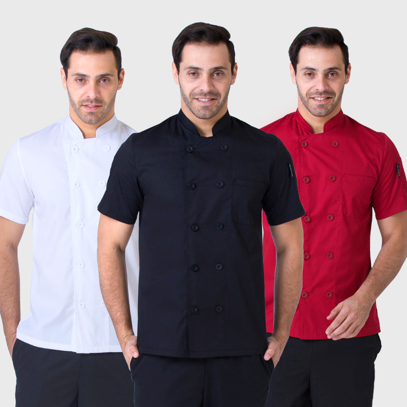 Summer Short Sleeve Chefs Uniform Breathable Net Chef Shirt 2018 New Special Mesh Cool Chef White Uniform Waiter Cheap Workwear