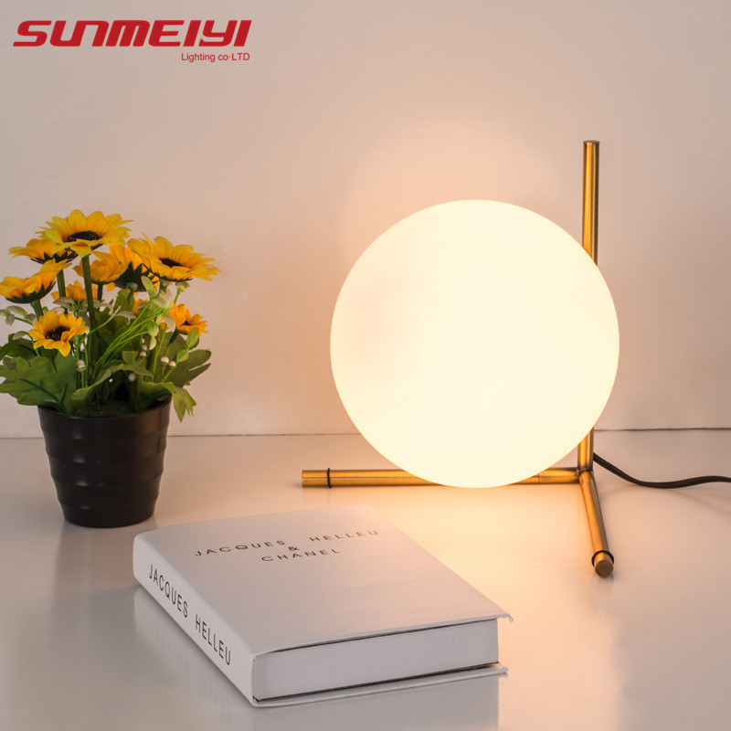 Modern Glass Table Lamps Nordic Simple Bedroom Bedside Reading Desk Lamp Home Decoration LED Table Lights Lamparas Lighting botimi wooden table lamp with fabric lampshade bedside desk lights lamparas de mesa book lamps deco luminaria reading lighting