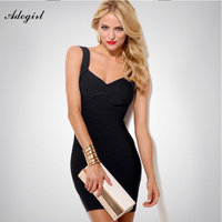 Adogirl Women Sexy Bandage Dress Summer front Crosses 6 Solid Colors Spaghetti Strap Stretch Bodycon Party Sexy Backless Dresses