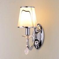 Wysokiej jakości lampa LED salon kinkiet sypialnia lampki nocne światła wisiorek kryształ schody korytarz kinkiet oświetlenia wnętrza