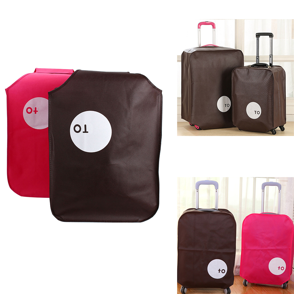 Non-woven Travel Luggage Cover Protective Suitcase Cover Trolley Case Travel Luggage Dust Cover For 20/24/28 Inch #25