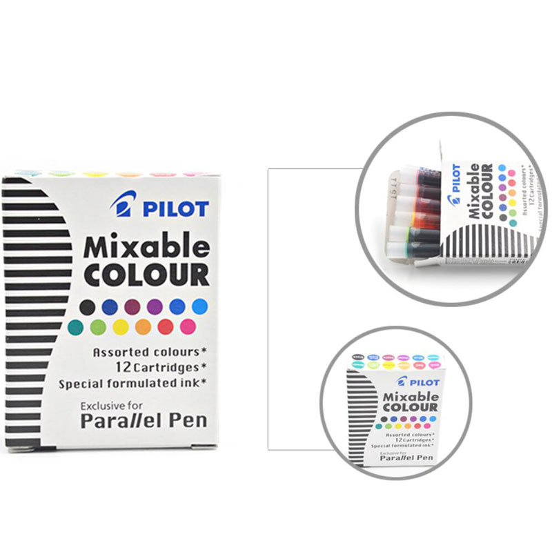 PILOTE parallèle Pen-CALLIGRAPHY PEN 6.0 mm Red and Black Ink cartouches