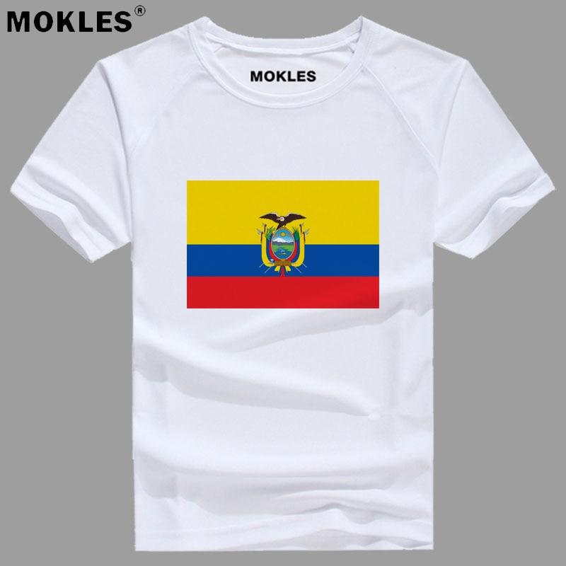 ECUADOR t shirt free custom made name number ecu t-shirt nation flag ec spanish republic Ecuadorian college print photo clothing