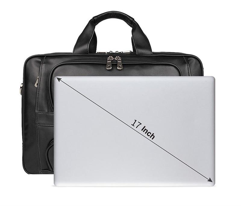 HTB1uv AeoCF3KVjSZJnq6znHFXaY MAHEU Vintage Leather Mens Briefcase With Pockets Cowhide Bag On Business Suitcase Crazy Horse Leather Laptop Bags 2019 Design