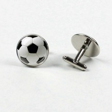 VERDVE2019 Top 20mm Football Club Round Glass Mens Shirt Cufflinks Jewelry Wedding Gifts