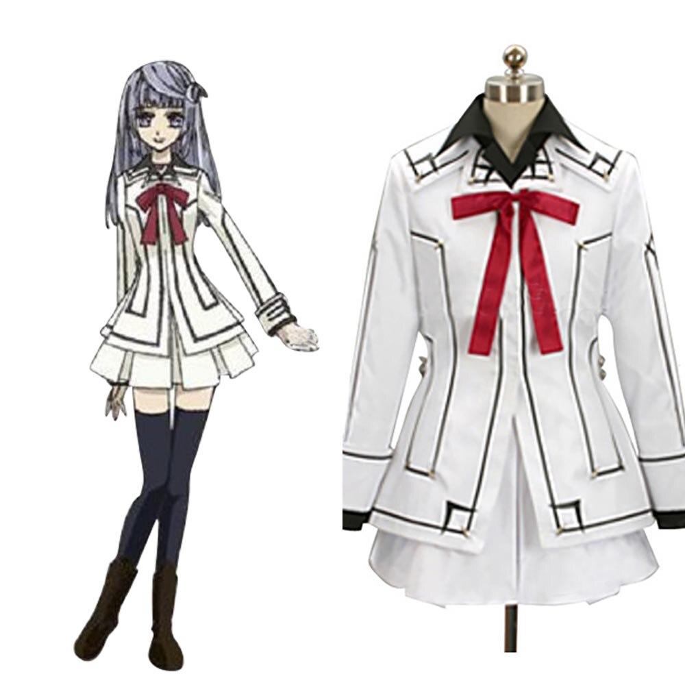2017 Vampire Knight Cosplay Costume Night Class Girl Kurosu Yuuki Cosplay Costume Full Set Custom Made