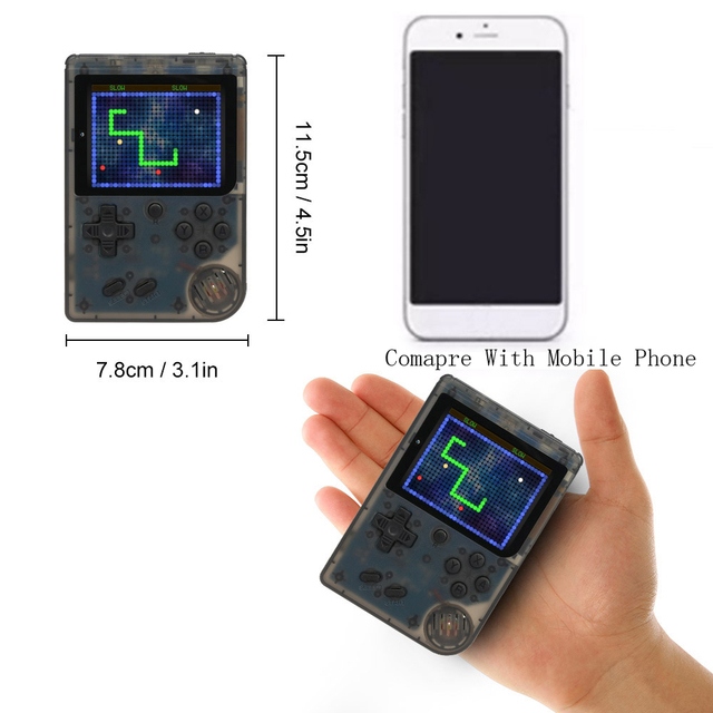 AV Port mini game console 3.0 inch Screen 8 bit Video Gaming Players handheld game player built in 168 games Best Gift For Kids