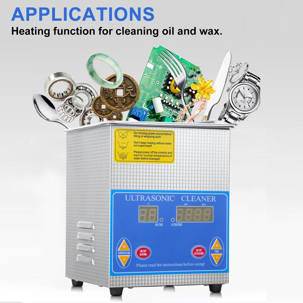 Profissional de Aço Inoxidável Litros 1.3L Indústria Limpeza Ultra sônica Aquecedor Aquecido Grande Timer Digital E Display de Temperatura - 5
