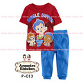 New 2014 brand babys cotton sleepwear boys bubble guppies pyjamas girls Minnie clothing kids pajama