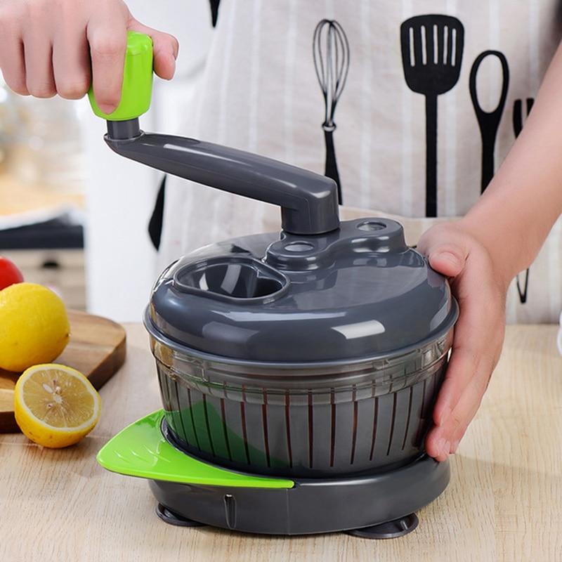 Manual Meat Blender Kitchen Food Processor Mixer Vegetable Fruit Chopper Cutter Separator Portable Meat Blender Grinder For Home