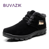 BUVAZIK 2018 winter men casual shoes keep warm cotton fabric casual shoes men comfortable Plus velvet thickening shoes men