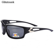 Glitztxunk Luxurious Men Sunglasses Black Polarized Driving Mirrors Coating Frame Eyewear UV400 Male Sun Glass