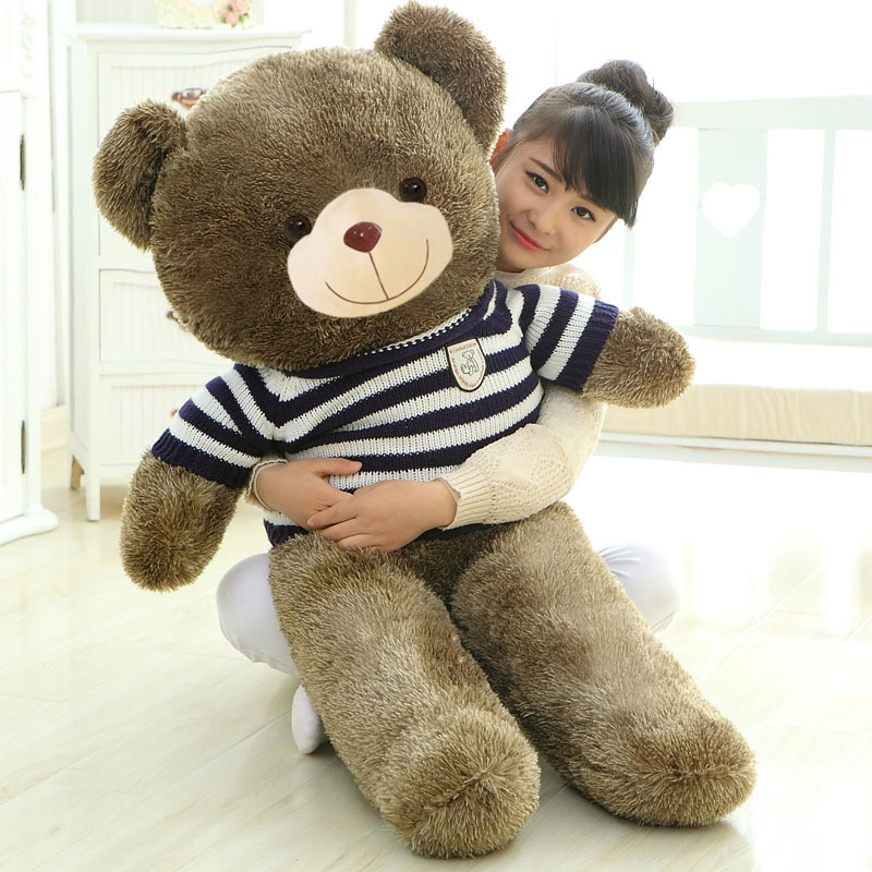 160cm Giant Teddy Bear Plush Stuffed Toy with Clothes Love Embrace Bears Chrildren Kids Doll Girl's Birthday Christmas gift the lovely bow bear doll teddy bear hug bear plush toy doll birthday gift blue bear about 120cm