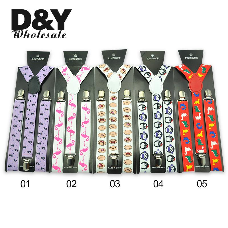 New 6 Animals Design Suspenders Women's Men' S Funny Novelty Elastic Braces Y-shape Adjustable Suspender Strap  Wholesale Retail